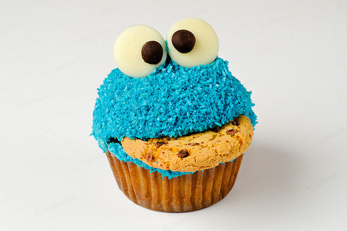cookie monster cupcakes of Lewis  Modd - Recipefy