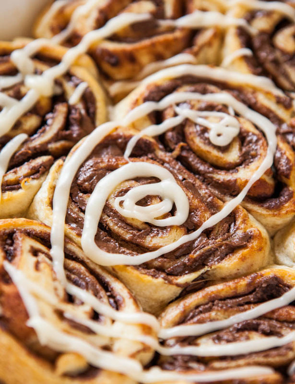 Nutella Cinnamon Rolls with Vanilla Glaze of Azzrinna Kadri - Recipefy