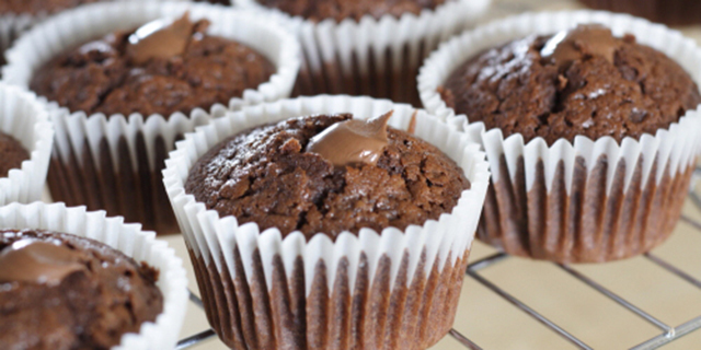 Muffin al cioccolato ripieni di Nutella of Michele - Recipefy
