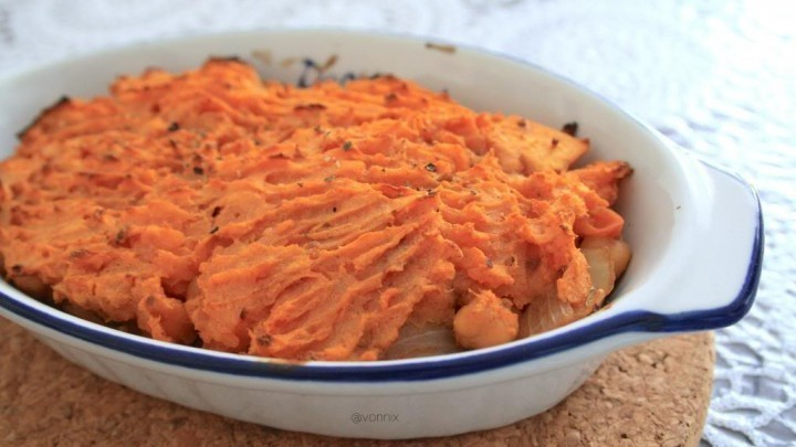 Chickpea and Sweet Potato Cottage Pie for One of Sweeter Life Club - Recipefy