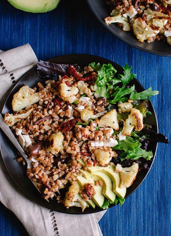 Roasted Cauliflower And Farro Salad of Sara Meyer - Recipefy
