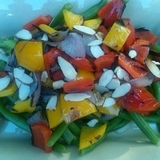 Chilled%20green%20beans%20with%20grilled%20veggies