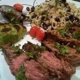 Skirt%20steak%20with%20deconstructed%20guacamole%20%26%20herbed%20black%20bean%20rice