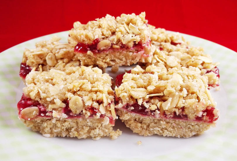 No Bake Vegan Jam Mini Crumb Squares of MyHealthyDessert - Recipefy