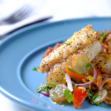Pan-fried-sea-bass-with-grape-salsa