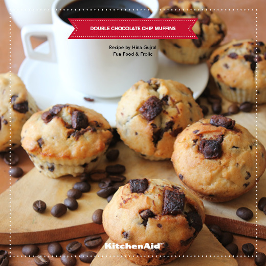 DOUBLE CHOCOLATE CHIP MUFFINS of Kanika Katyal - Recipefy