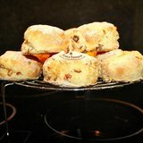 Coconut-flour-scones-with-orange-glaze