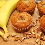 Banana-nut-muffins-with-coconut-oil