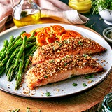 Crusted-salmon-and-vegetables