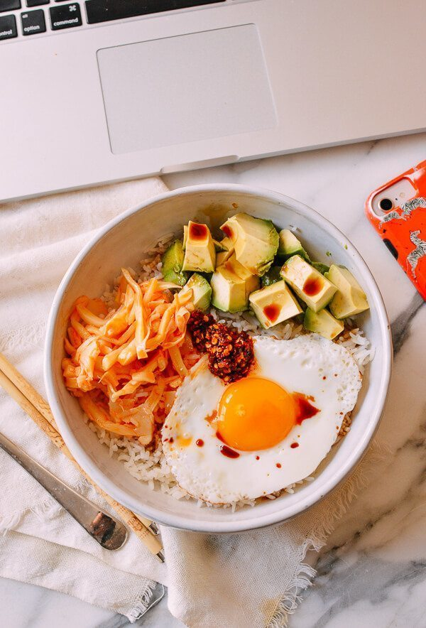 RICE WITH EGGS, AVOCADO & CHILI of michelle - Recipefy