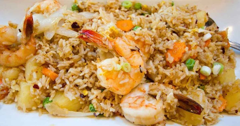 Thai Pineapple Shrimp Fried Rice of Mithra - Recipefy